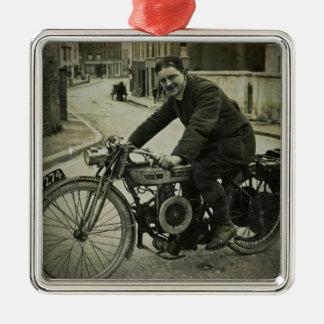1900s tempranos del vintage británico de la motoci adorno de navidad
