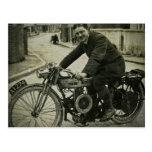 1900s tempranos del vintage británico de la motoci postales