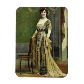 1900s Vintage Lady in Posh Spring Fashion Magnet