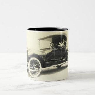 1900's woman driving car mug