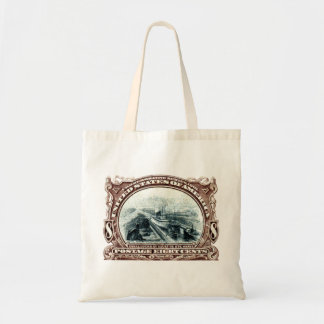 1901 Canal Locks Michigan Canvas Bags