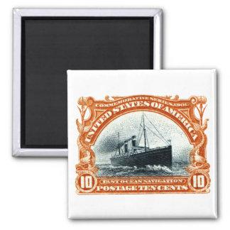 1901 Fast Ocean Navigation Refrigerator Magnet