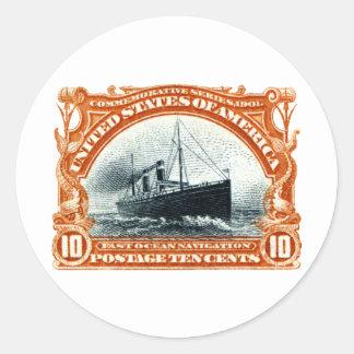 1901 Fast Ocean Navigation Round Sticker