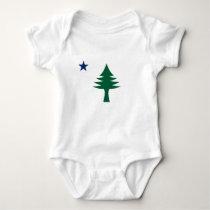 1901 Maine Flag Baby Bodysuit