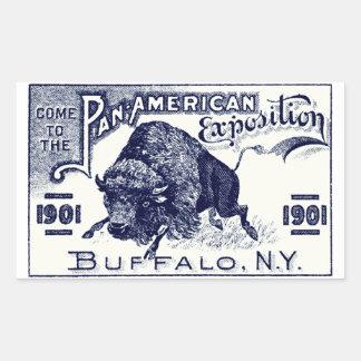 1901 Pan-American Expo Rectangular Stickers