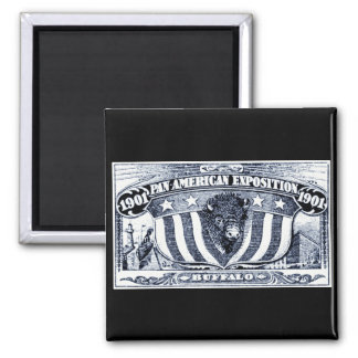 1901 Pan-American Exposition 2 Inch Square Magnet