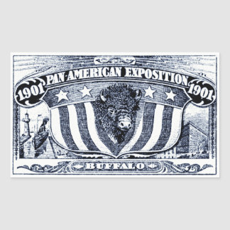 1901 Pan-American Exposition Rectangle Sticker