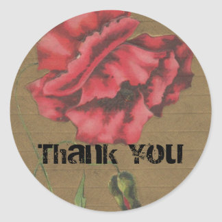 1901 Poppy Thank You Sticker