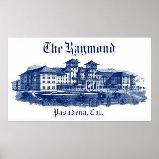 1901 Raymond Hotel Pasadena California Poster