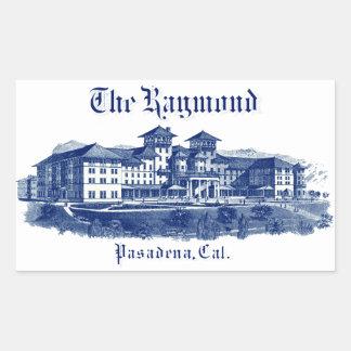 1901 Raymond Hotel Pasadena California Rectangular Sticker