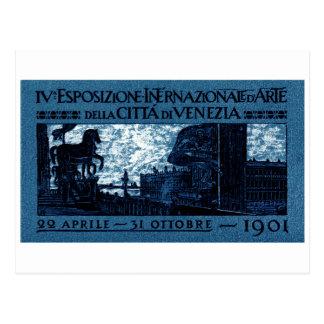 1901 Venice Art Exhibit Poster Postcard