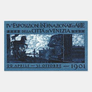 1901 Venice Art Exhibit Poster Rectangular Sticker
