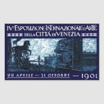 1901 Venice Art Exhibit Poster Rectangular Stickers