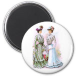 1901 Vintage Dresses 2 Inch Round Magnet