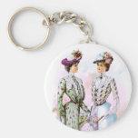 1901 Vintage Dresses Basic Round Button Keychain