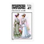 1901 Vintage Dresses Postage Stamp