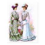 1901 Vintage Dresses Postcard