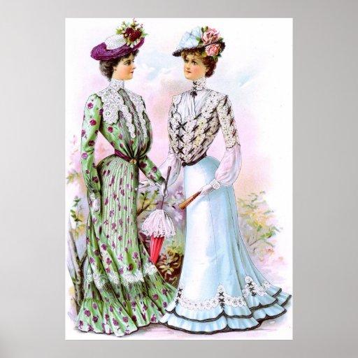 1901 Vintage Dresses Poster