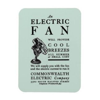 1902 Advertising Buy Electricity Get Free Fan Magnet