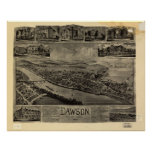 1902 Dawson, PA Birds Eye View Panoramic Map Posters