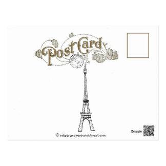 "1902 FRENCH ""ROMANCE BLOOMS"" SPRINGTIME IN PARIS POSTCARD"