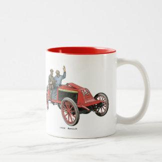 1902 Renault Race Car Two-Tone Coffee Mug