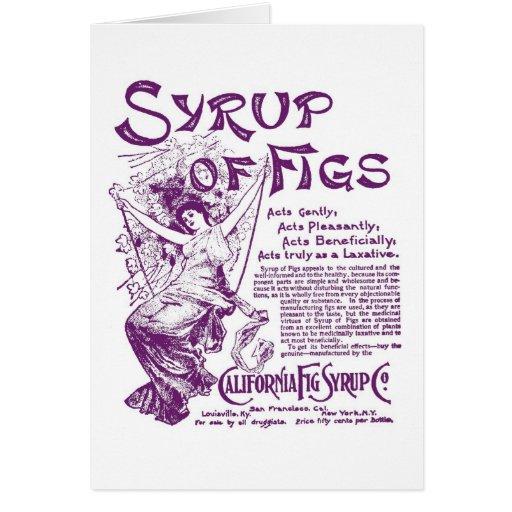 1902 Syrup of Figs vintage illustration Card
