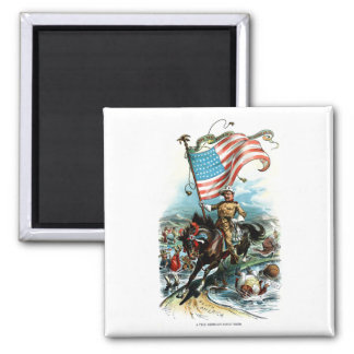 1902 Theodore Roosevelt 2 Inch Square Magnet