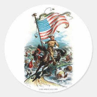1902 Theodore Roosevelt Classic Round Sticker