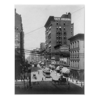 1903 4ta impresión del St St. Louis Missouri Póster