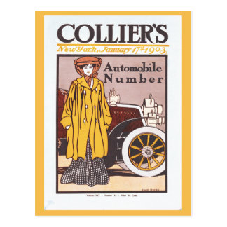 1903 Colliers automobile number Postcard