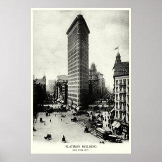 1903 distrito de Flatiron, New York City Posters
