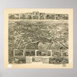 1903 Dover, mapa panorámico de la opinión de ojo d Poster