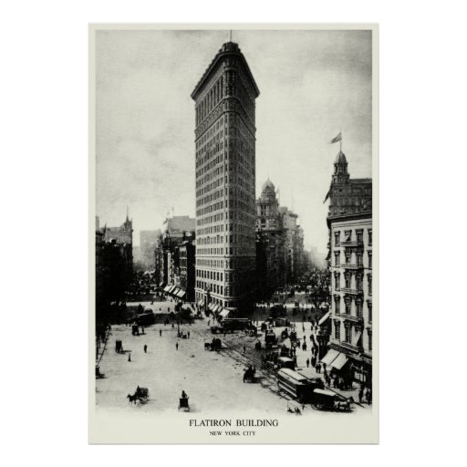 1903 Flatiron District, New York City Poster