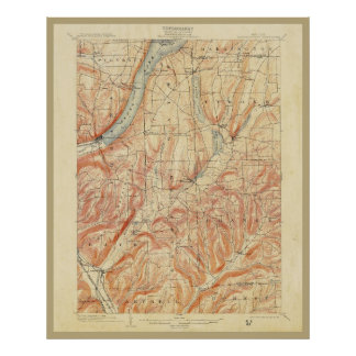 1903 New York State Topographical Map Poster