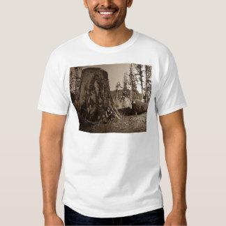 1903 Vintage Lumberjacks Magic Lantern Slide Tee Shirt