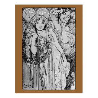 ~ 1904 de Alphones Mucha del ~ de la amistad Tarjetas Postales