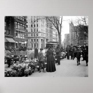 1904 Easter Fowers NYC Print