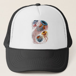 1904 Jellyfish Art Forms of Nature Print Trucker Hat