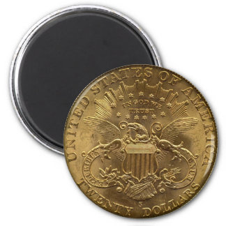 1904 moneda de veinte dólares, parte posterior (co imán redondo 5 cm