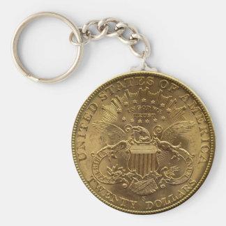 1904 moneda de veinte dólares, parte posterior (co llavero personalizado