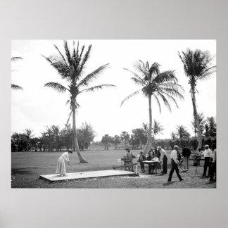 1904 Palm Beach Golfing la Florida. Impresión Póster