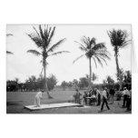 1904 Palm Beach Golfing la Florida. Tarjeta de fel