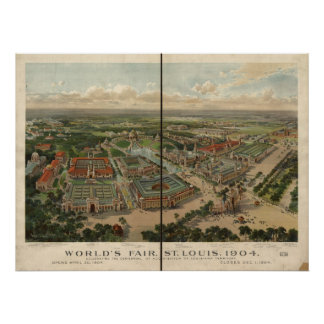 1904 St. Louis MO World's Fair Panoramic Map Posters