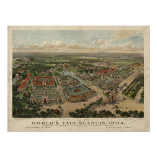1904 St. Louis MO World's Fair Panoramic Map Poster