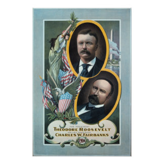 1904 Teddy Roosevelt election poster. Poster