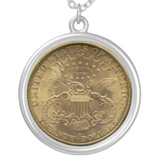 1904 Twenty Dollar Coin, back (tails) or $20 Silver Plated Necklace