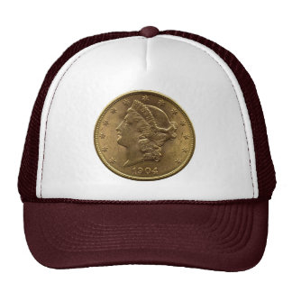 1904 Twenty Dollar Coin front (heads) or $20 money Trucker Hat