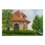 1904 World Fair Pavilion II Oil Landscape Painting Poster