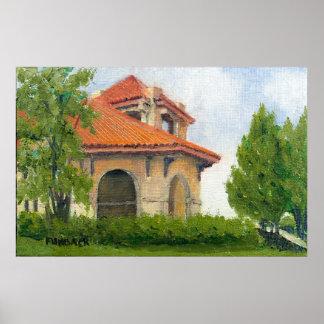 1904 World Fair Pavilion II Oil Landscape Painting Poster